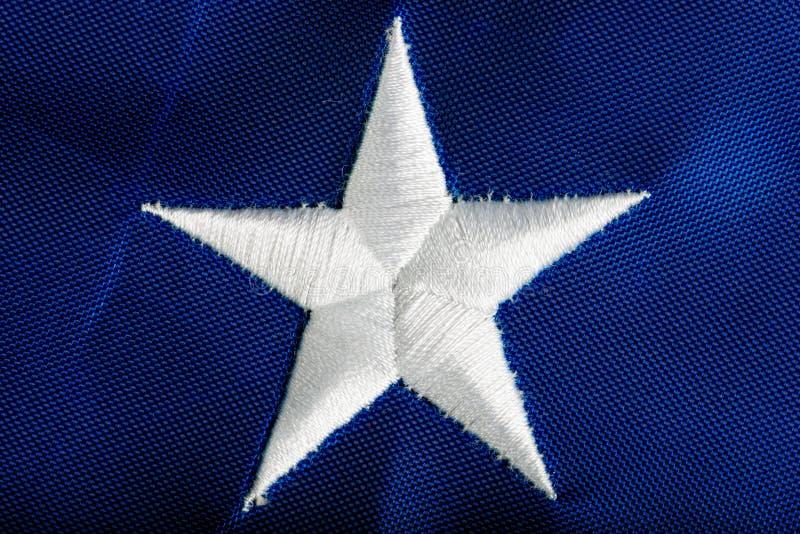 Drapeau américain brodé d'étoile photographie stock libre de droits