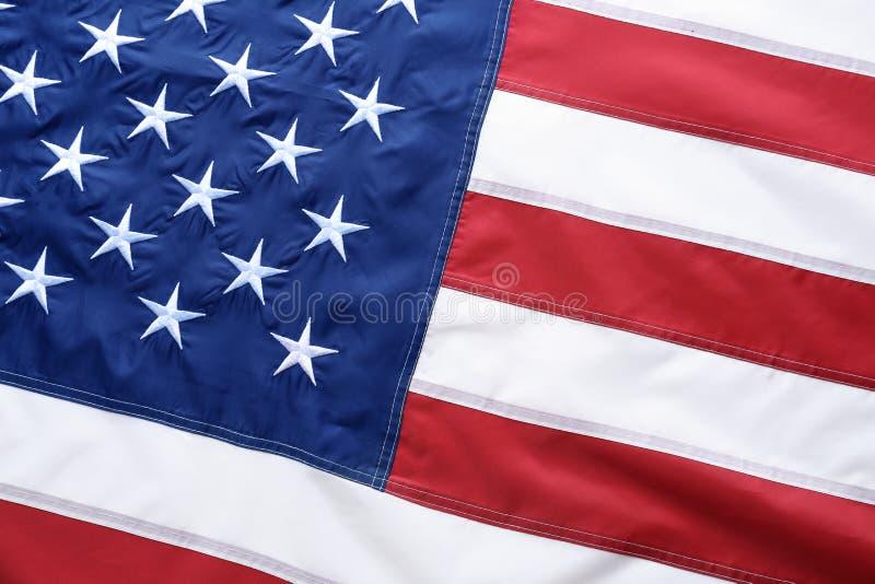 Drapeau américain comme fond, vue supérieure image libre de droits