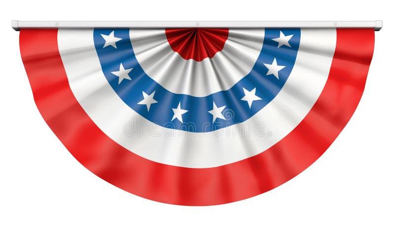 Drapeau américain donnant un petit coup illustration stock
