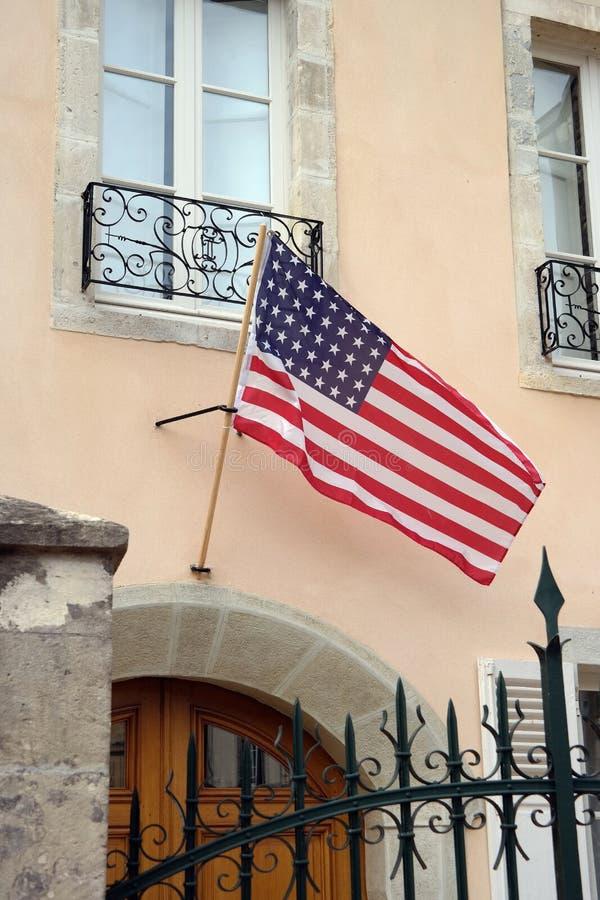 Drapeau américain en France photographie stock