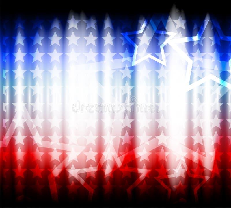 Drapeau américain, fond abstrait de images stock