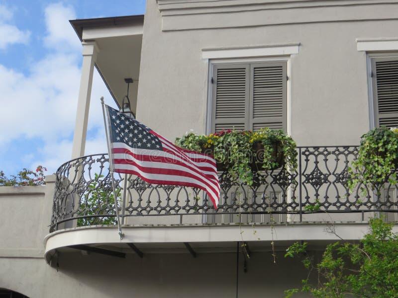 Drapeau américain, la Nouvelle-Orléans images libres de droits