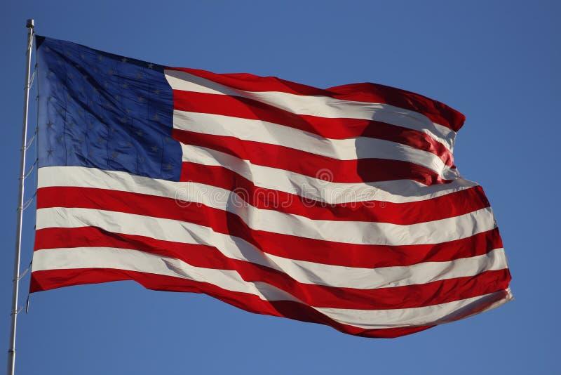 Drapeau américain - pour toujours peut elle onduler images stock