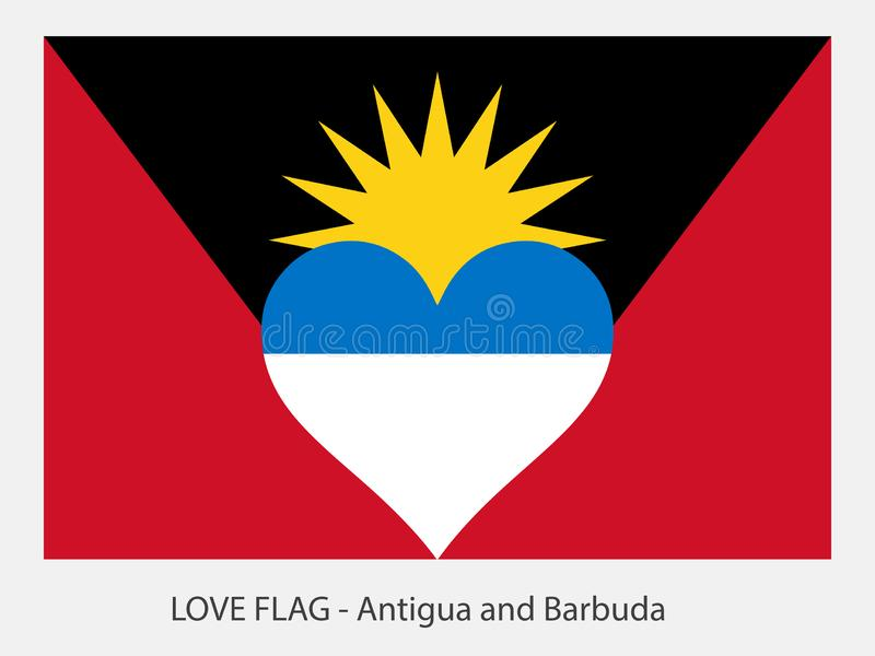 Drapeau Antigua-et-Barbuda d'amour illustration libre de droits