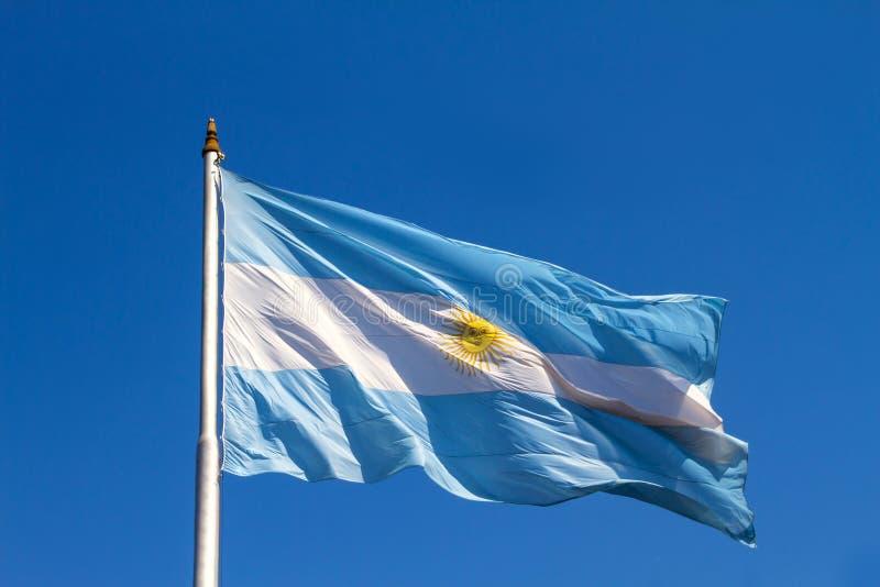 Drapeau argentin flatteusement photo libre de droits