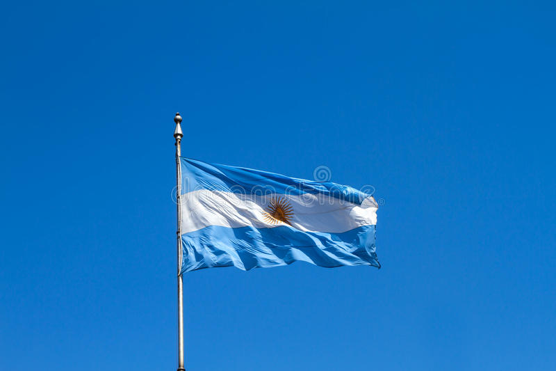 Drapeau argentin flatteusement photos libres de droits