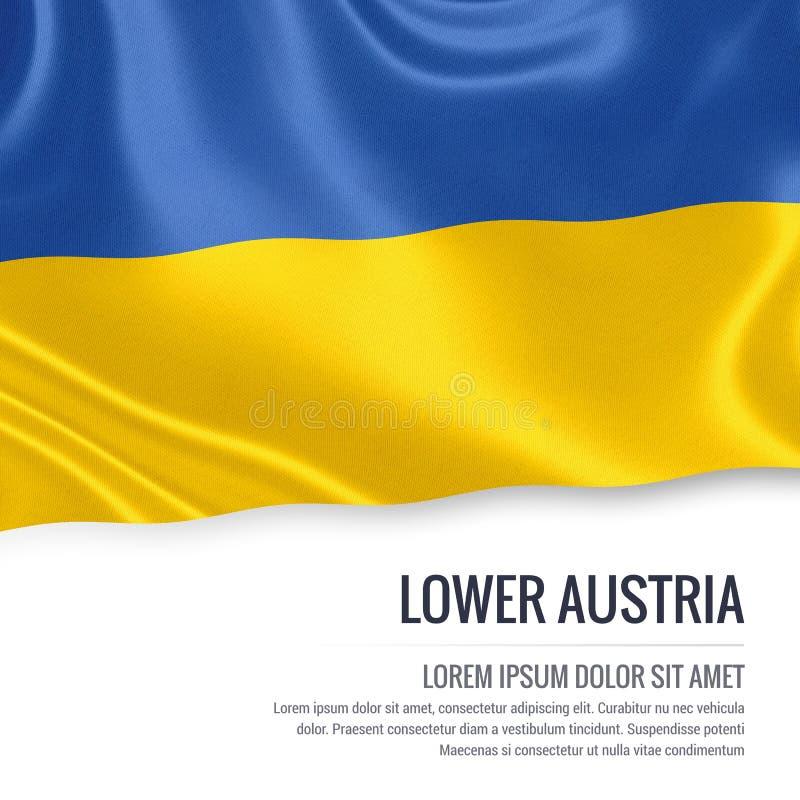 Drapeau autrichien de la Basse Autriche d'état illustration libre de droits