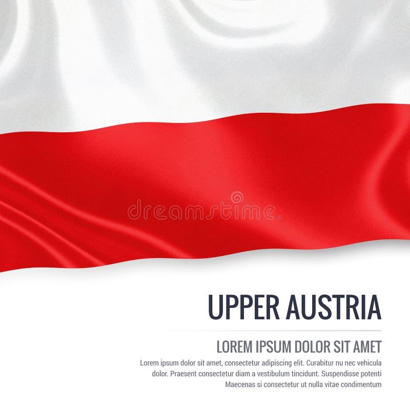 Drapeau autrichien de la Haute-Autriche d'état illustration de vecteur