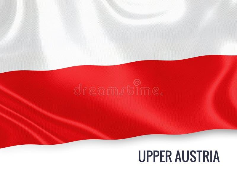 Drapeau autrichien de la Haute-Autriche d'état illustration libre de droits