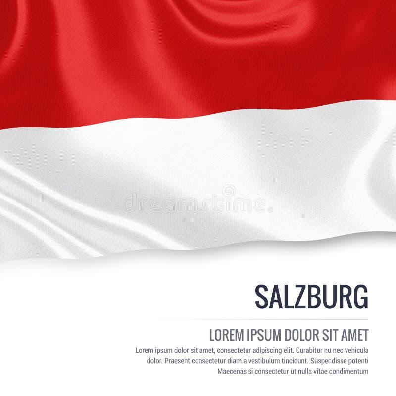 Drapeau autrichien de Salzbourg d'état illustration libre de droits