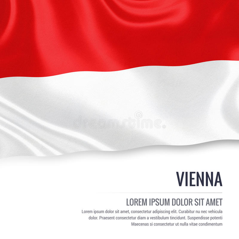 Drapeau autrichien de Vienne d'état illustration libre de droits
