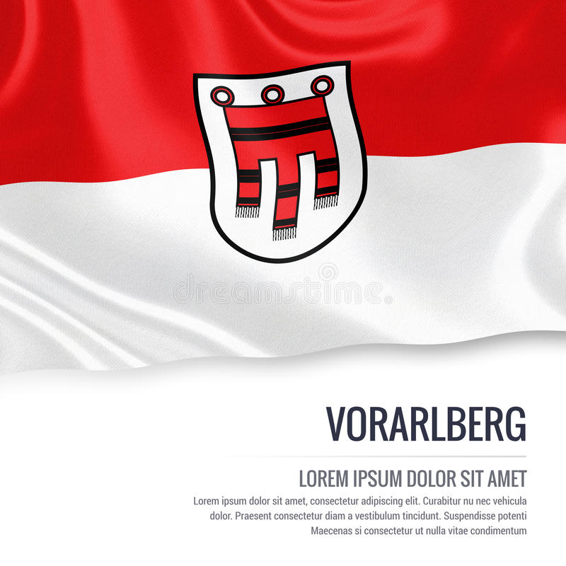 Drapeau autrichien de Vorarlberg d'état illustration de vecteur