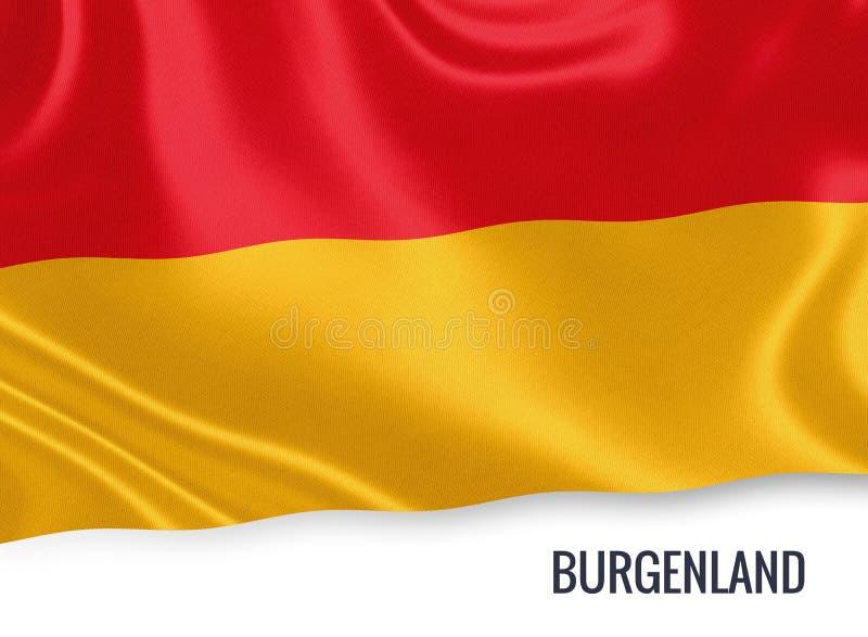 Drapeau autrichien du Burgenland d'état illustration de vecteur