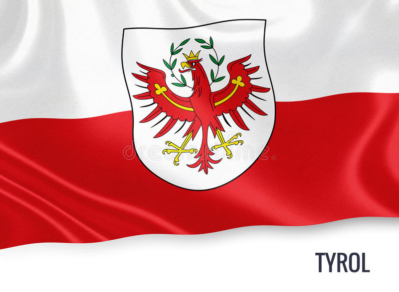 Drapeau autrichien du Tyrol d'état illustration de vecteur