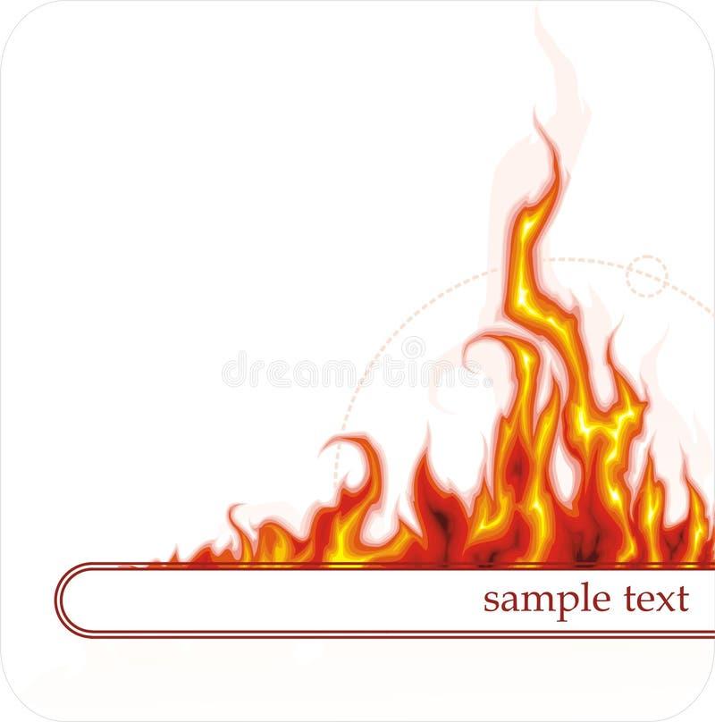 Drapeau avec l'incendie