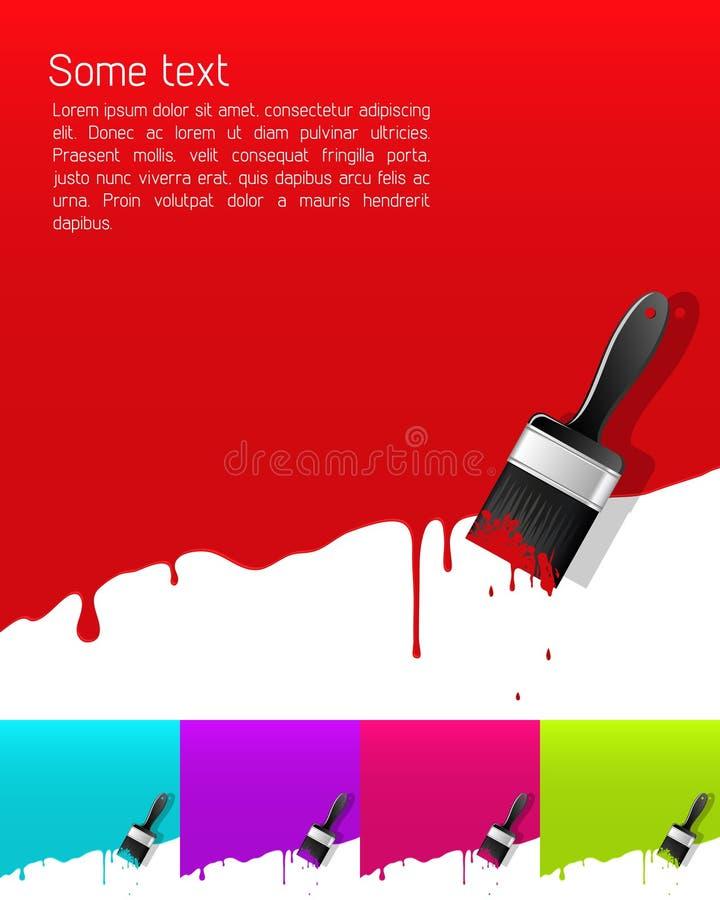 Drapeau avec la peinture d égoutture