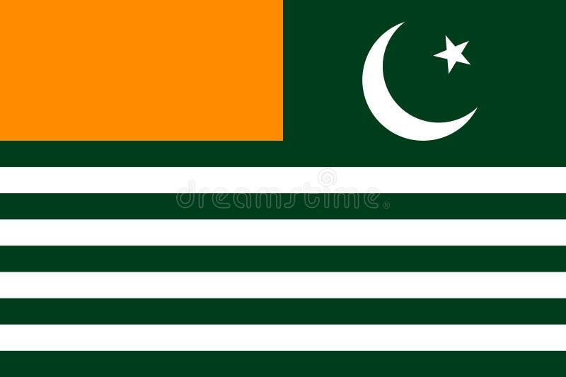 Drapeau Azad Jammu et Cachemire illustration libre de droits