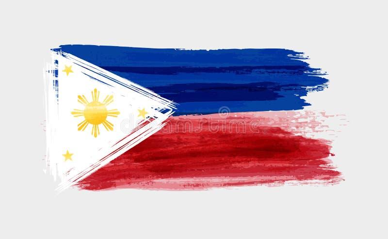 Drapeau balayé des Philippines illustration libre de droits