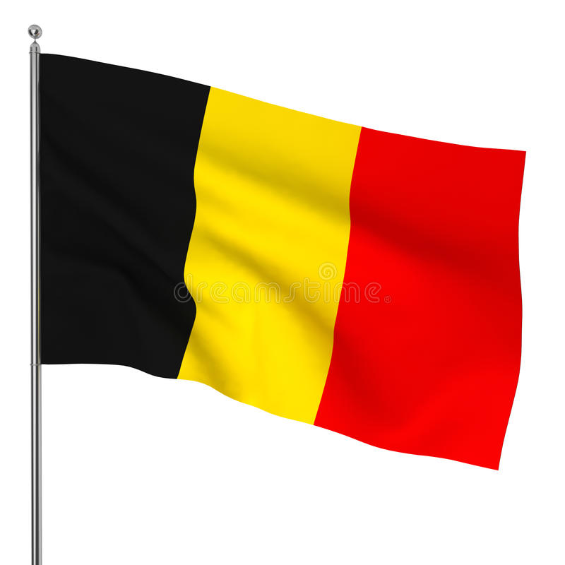 Drapeau belge illustration stock
