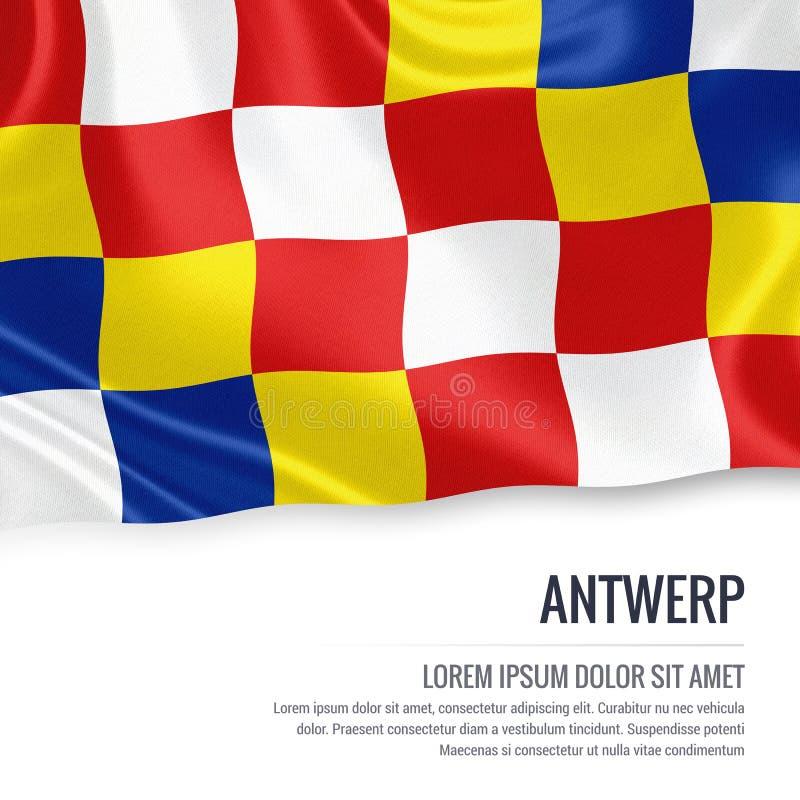 Drapeau belge d'Anvers d'état illustration libre de droits