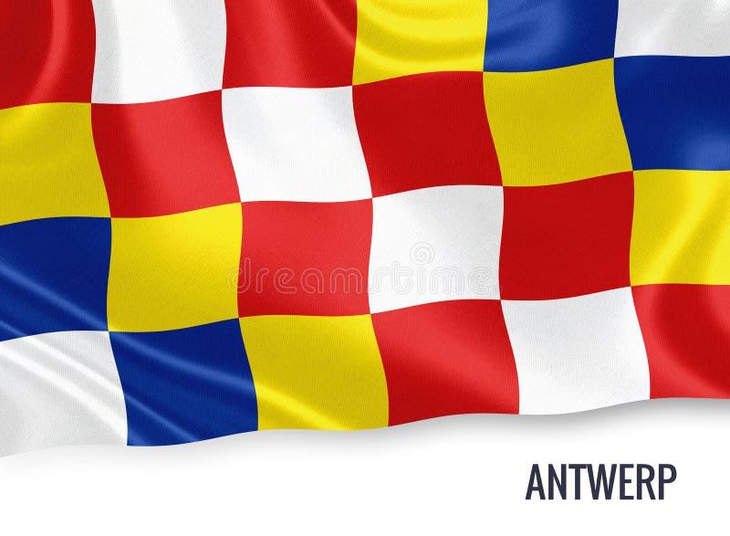 Drapeau belge d'Anvers d'état illustration stock