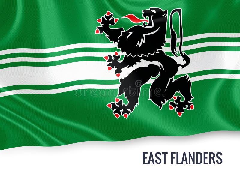 Drapeau belge de la Flandre-Orientale d'état illustration stock