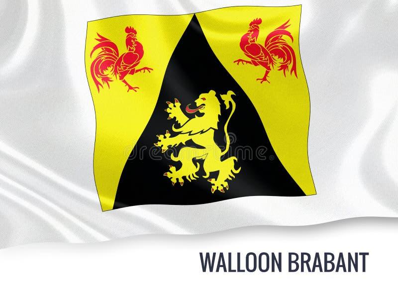 Drapeau belge de la Province du Brabant Wallon d'état illustration stock