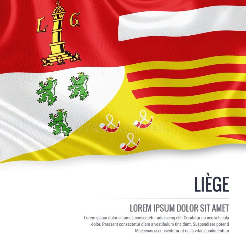 Drapeau belge de Liège d'état illustration stock