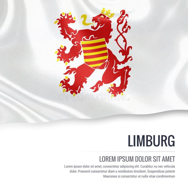 Drapeau belge de Limbourg d'état illustration stock