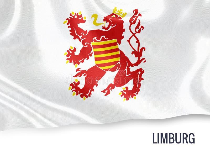 Drapeau belge de Limbourg d'état illustration libre de droits