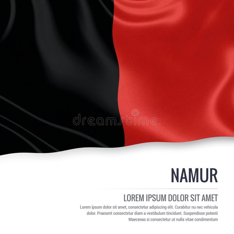 Drapeau belge de Namur d'état illustration de vecteur
