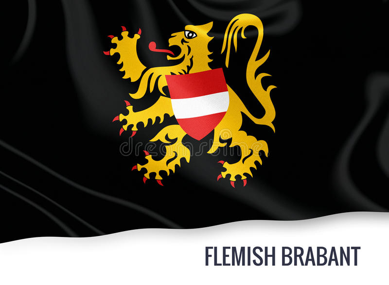 Drapeau belge du Brabant flamand d'état illustration stock