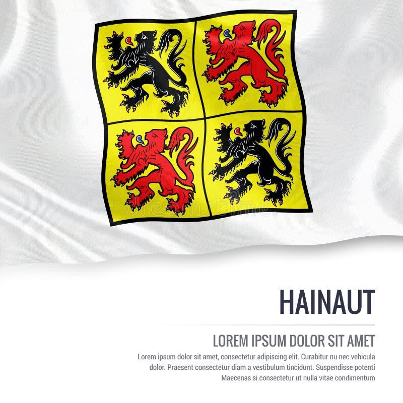 Drapeau belge du Hainaut d'état illustration de vecteur