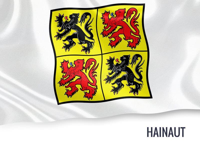 Drapeau belge du Hainaut d'état illustration stock