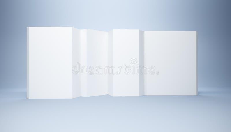 Drapeau blanc blanc illustration libre de droits