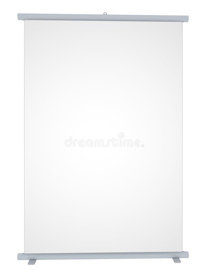 Drapeau blanc de remontée pyramidale illustration stock