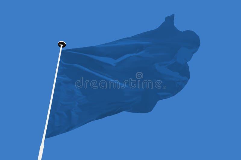 Drapeau bleu photo stock