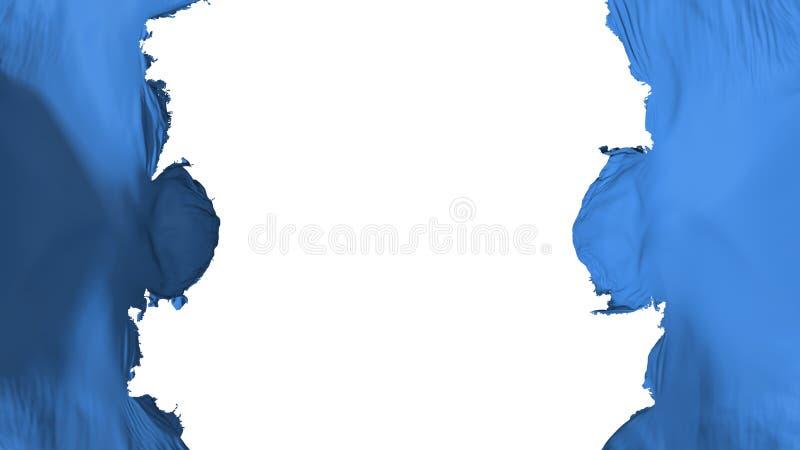 Drapeau bleu soufflé de couleur illustration libre de droits