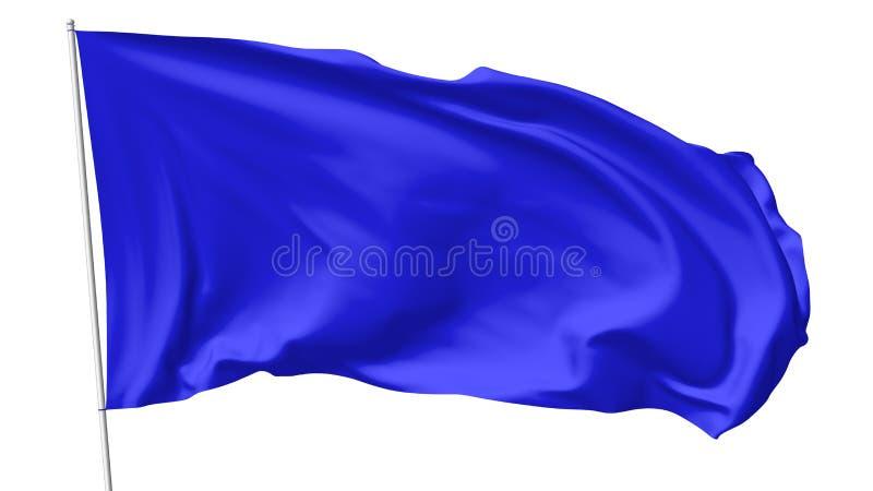 Drapeau bleu sur le mât de drapeau illustration stock