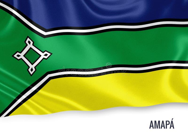 Drapeau brésilien d'Amapa d'état illustration libre de droits