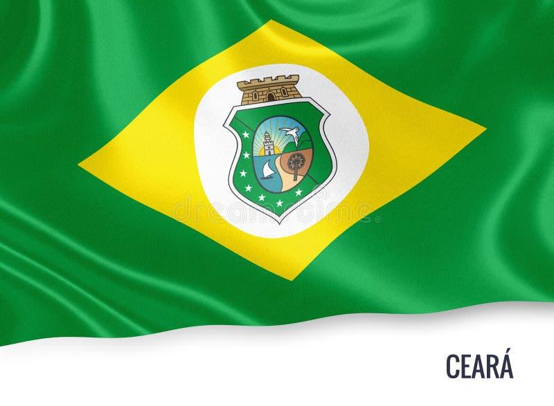 Drapeau brésilien de Ceara d'état illustration stock