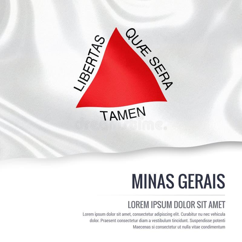 Drapeau brésilien de Minas Gerais d'état illustration stock