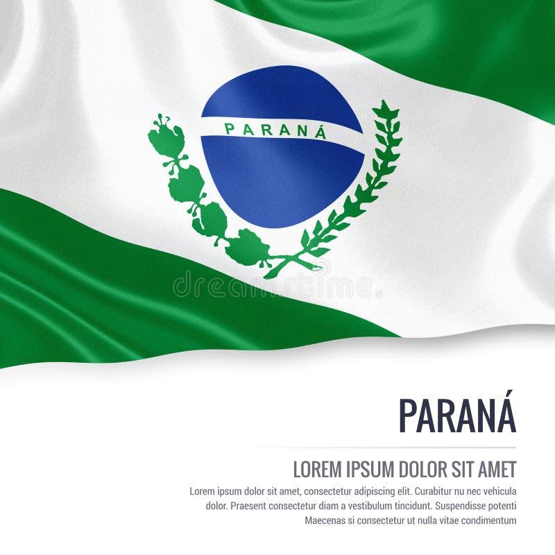 Drapeau brésilien de Parana d'état illustration stock