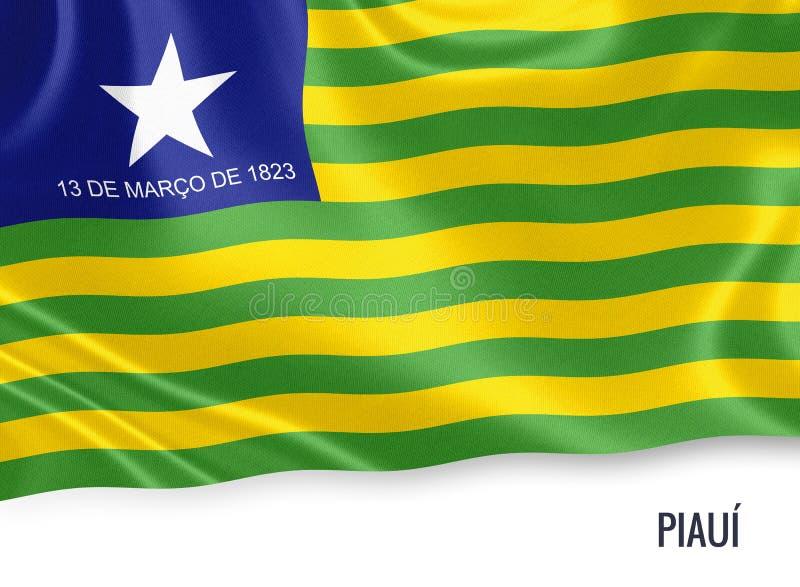 Drapeau brésilien de Piaui d'état illustration de vecteur