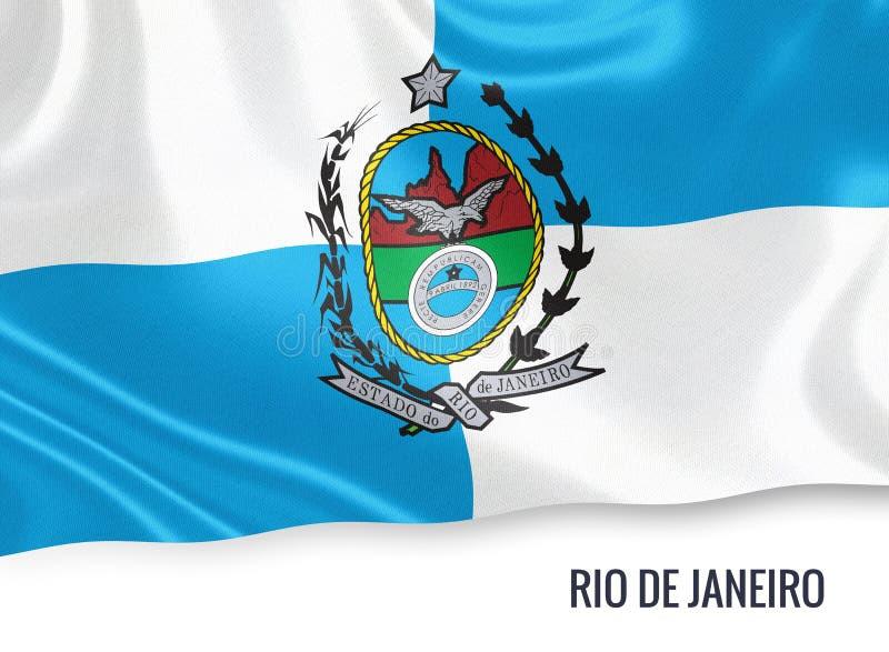 Drapeau brésilien de Rio de Janeiro d'état illustration de vecteur