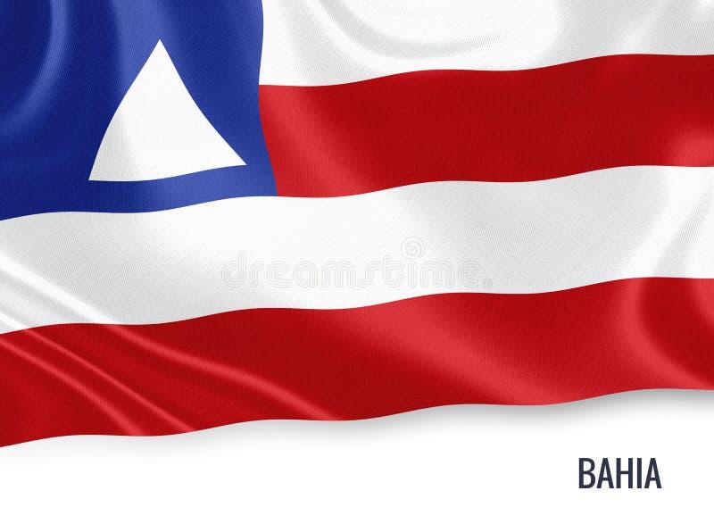 Drapeau brésilien du Bahia d'état illustration libre de droits