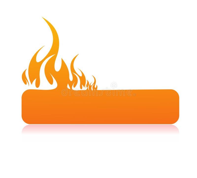 Drapeau brûlant de flamme illustration de vecteur