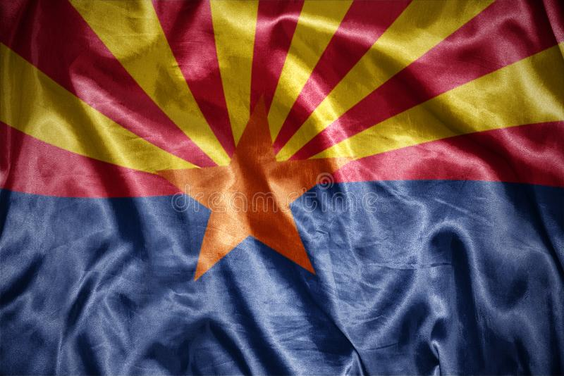 drapeau brillant d'état de l'Arizona illustration de vecteur