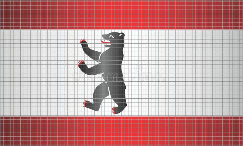 Drapeau brillant de mosaïque de Berlin illustration de vecteur
