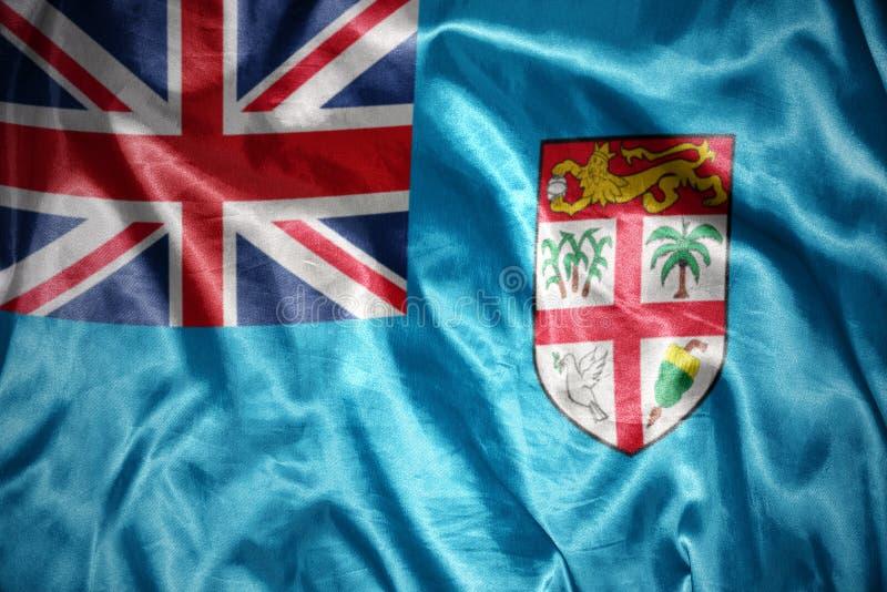 drapeau brillant du Fiji illustration libre de droits